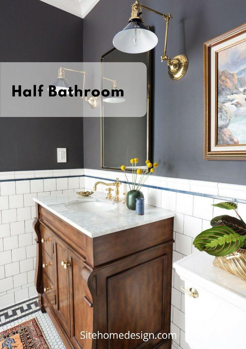 Excite your visitors with these 30 adorable half bathroom styles bathroommirrorsbathroomcabinetbathroomaccessoriesbathroomremodelideasbathroomtileideas