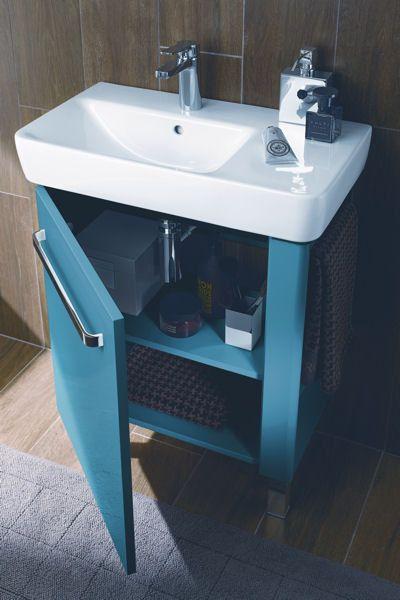 Lavabo Asymétrique Et Compact Dallia Salle De Bain Pinterest - Meuble lavabo salle de bain allia