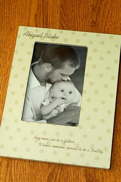 Personalized Daddy Picture Frame Father Son S Day Dad Daughter Gift 4x6 Baby Boy Newborn Keepsake W Choice Of Paper