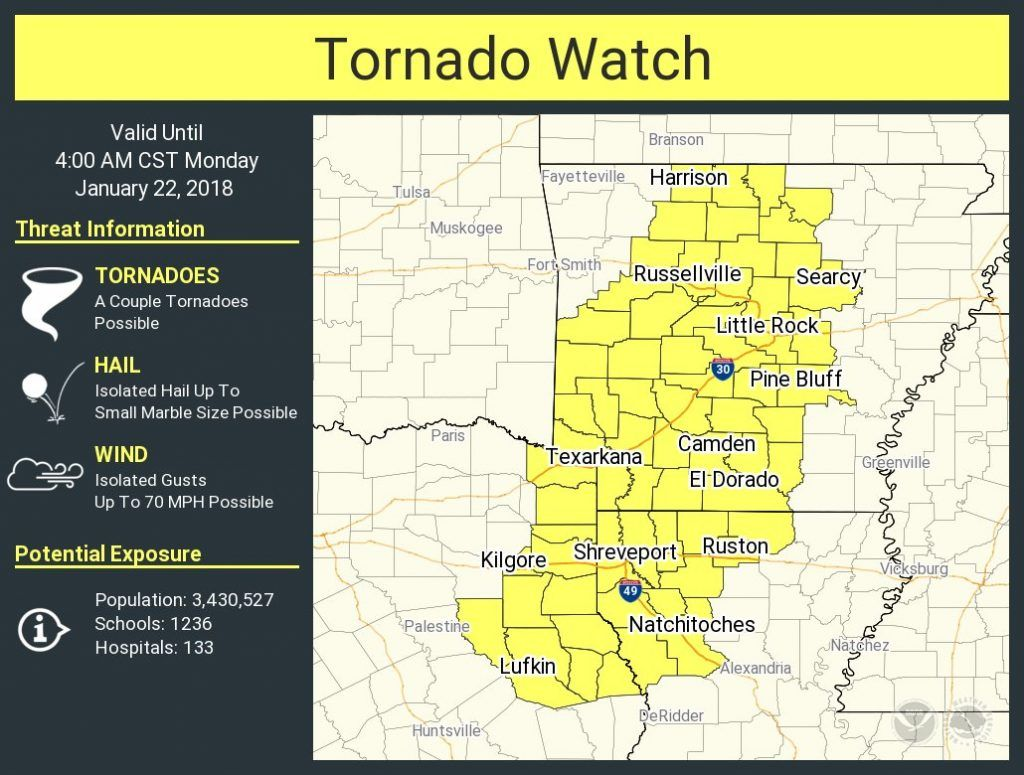 1011pm A New Tornado Watch Has Been Issued For Far Northeast Texas And Parts Of East Texas Until 4 Am This Watch Runs Nort Texas Storm Tornado Tornado Watch