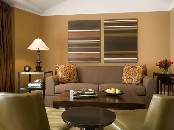 Color Ideas For Living Room Walls   Dark Brown Color | Home Interiors