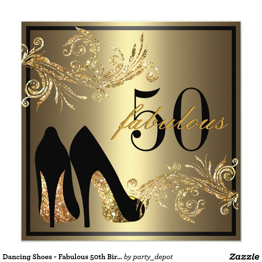 Dancing shoes fabulous th birthday invitation dancing shoes