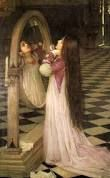 Lady oolong I to the mirror by Waterhouse Every cottage or stately home must have attest one hanging above their bed Waterhouse