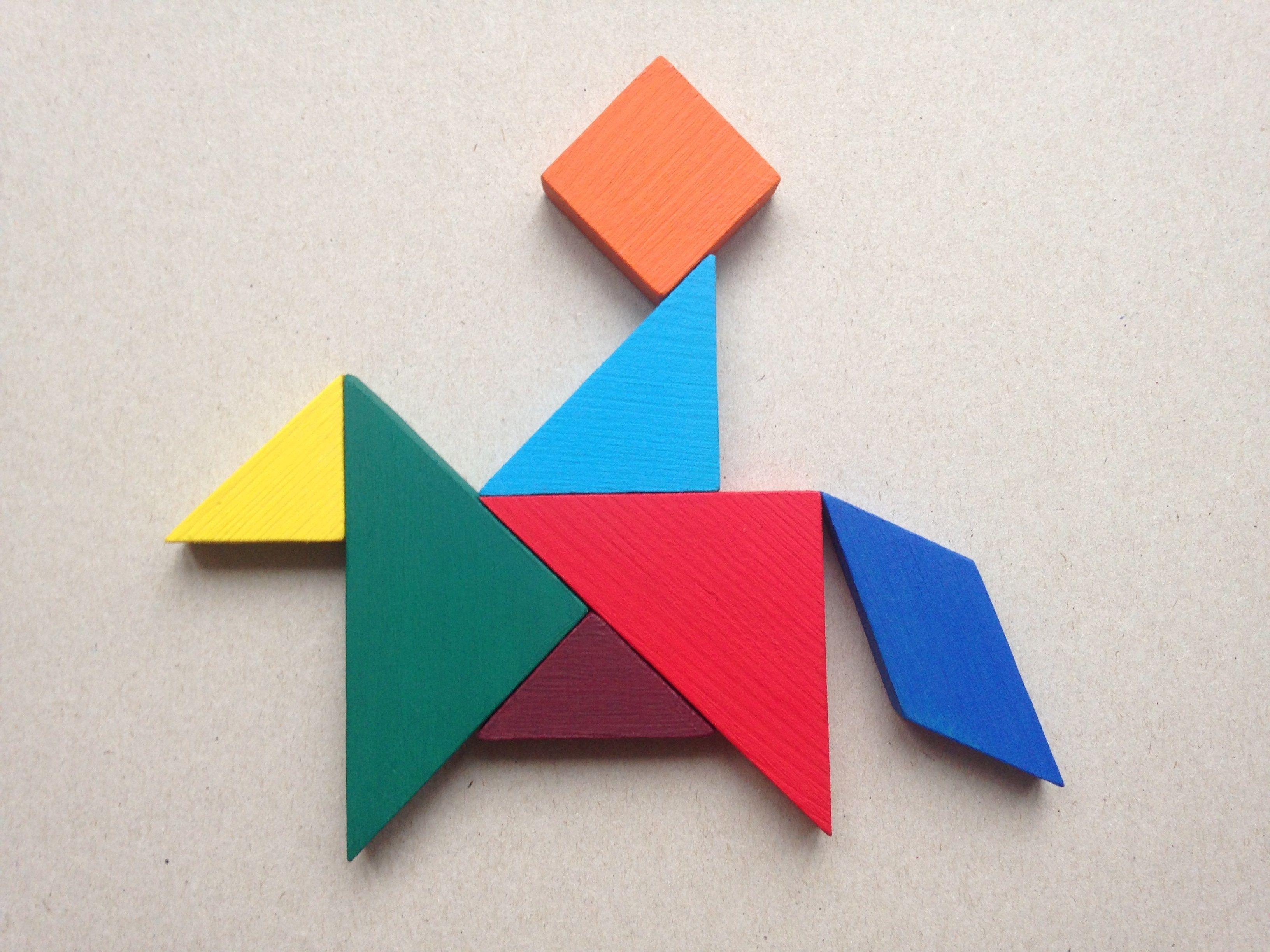 Картинки из треугольника и квадрата