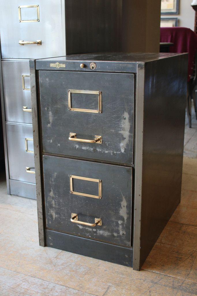 Beau Two Drawer Art Metal Filing Cabinet