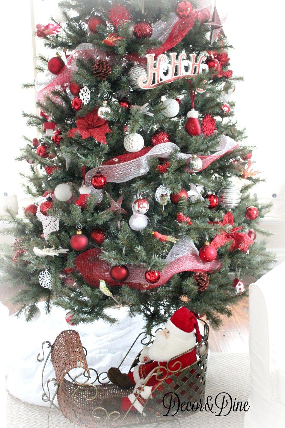 farm house and tour, red and white Christmas tree | Farmhouse ...