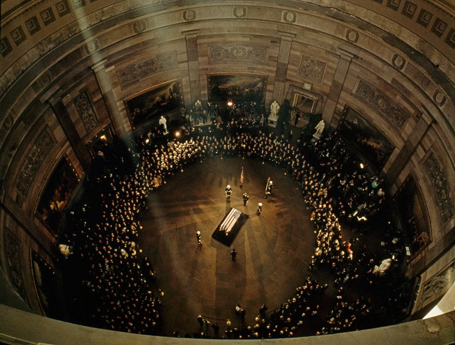 John F Kennedy's coffin lies in state in the Capitol Building (Nov. 1963) - Imgur