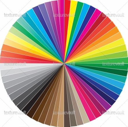 Free Pantone Color Chart  Color Swatches Circle  Royalty Free