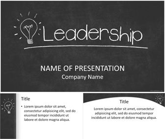 Leadership powerpoint template powerpoint templates pinterest powerpoint template with a light bulb drawn on a black chalkboard and leadership word in white chalk use this theme for presentations on leadership toneelgroepblik Choice Image