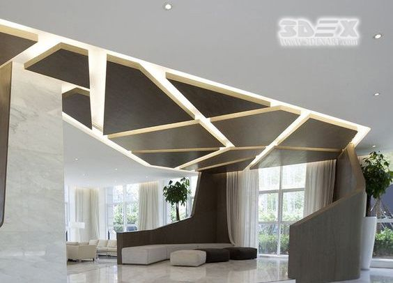 Gypsum Board Design 3d False Ceiling For Modern Living Rooms False Ceiling Is A Ceiling That