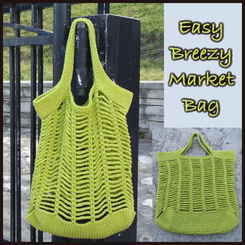 Easy Breezy Market Bag ~ FREE Crochet Pattern   Netz, Gehäkelte ...