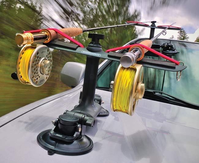 Rodmounts sumo suction rod holder ideal and safe way to for Fly fishing rod holder