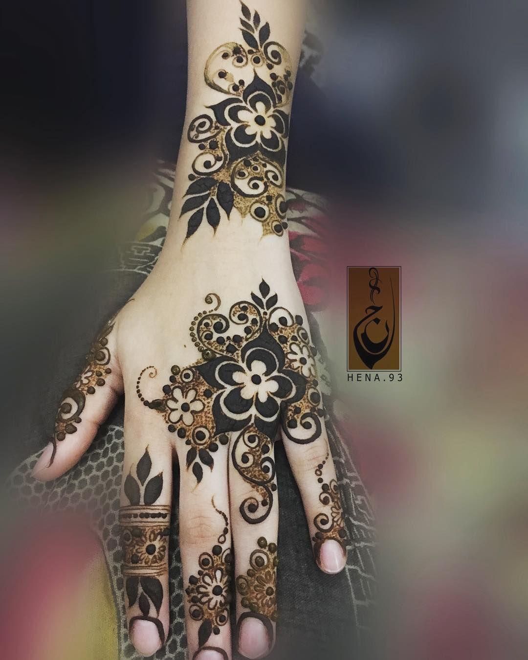 313 Likes 6 Comments س ــعاد Hena 93 On Instagram Modern Mehndi Designs Mehndi Design Photos Khafif Mehndi Design