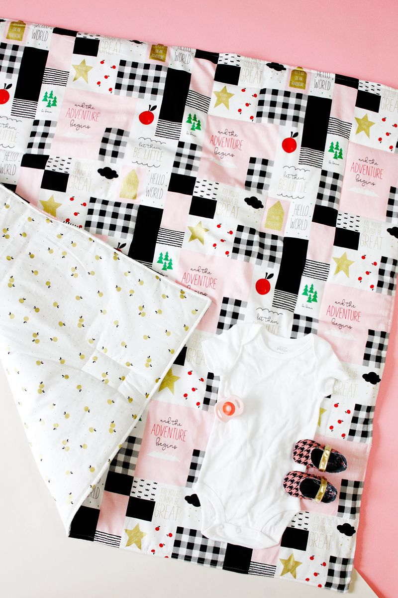 how to sew a baby blanket with 2 yards of fabric | DIY for Kids ...