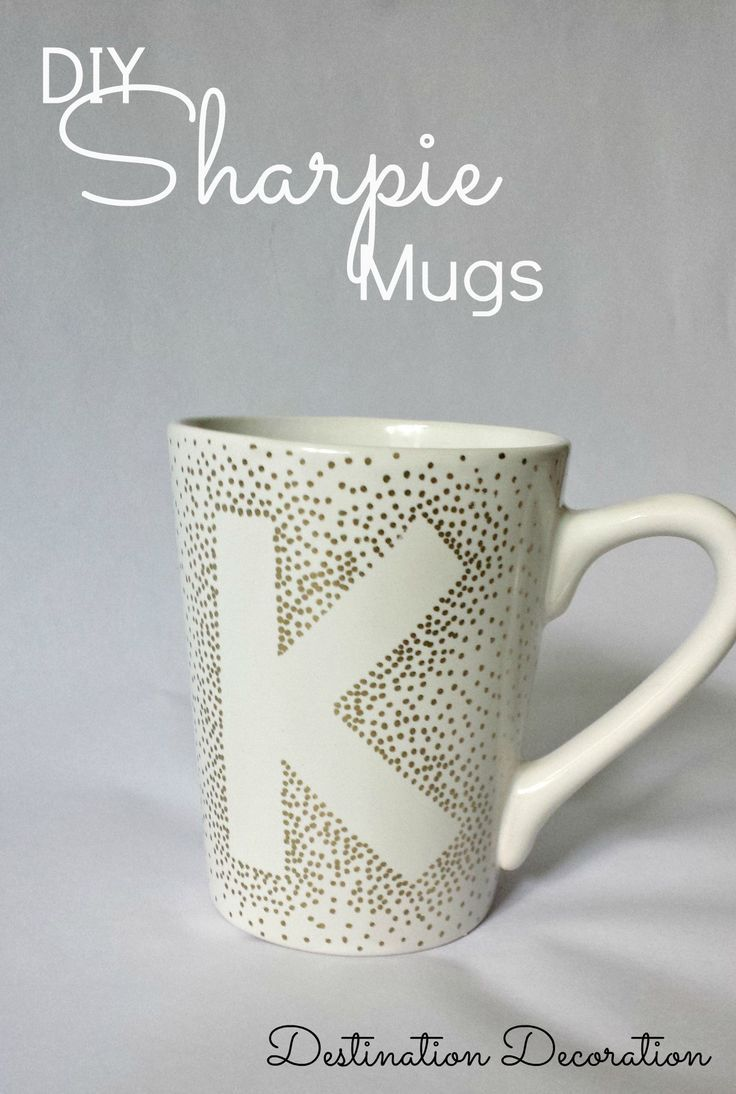 Exceptionnel DIY Sharpie Mugs Using Dollar Tree Mugs | Oil based sharpie  XL45