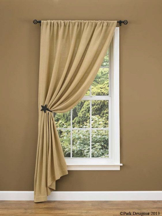 Burlap Single Panel 84 Small Window Curtains Living Room Windows Farmhouse Window Treatments