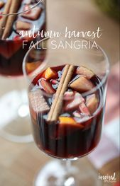 Autumn Harvest Fall Sangria  leckeres und einfaches Sangriarezept
