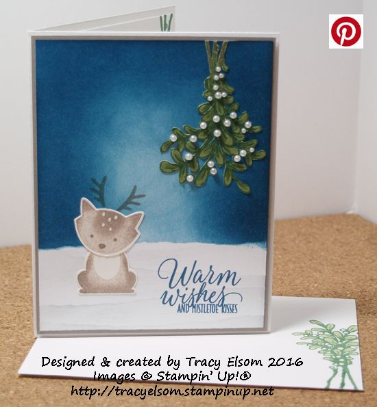 Cute Christmas card created using the Foxy Friends Stamp Set and