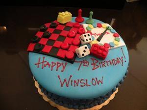 Custom Birthday Cake Denver Board Game Theme Cake Designs