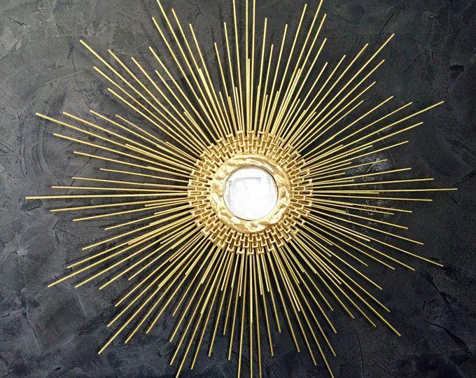 Gold Starburst Spiegel Handgefertigt Sunburst Spiegel 27 In