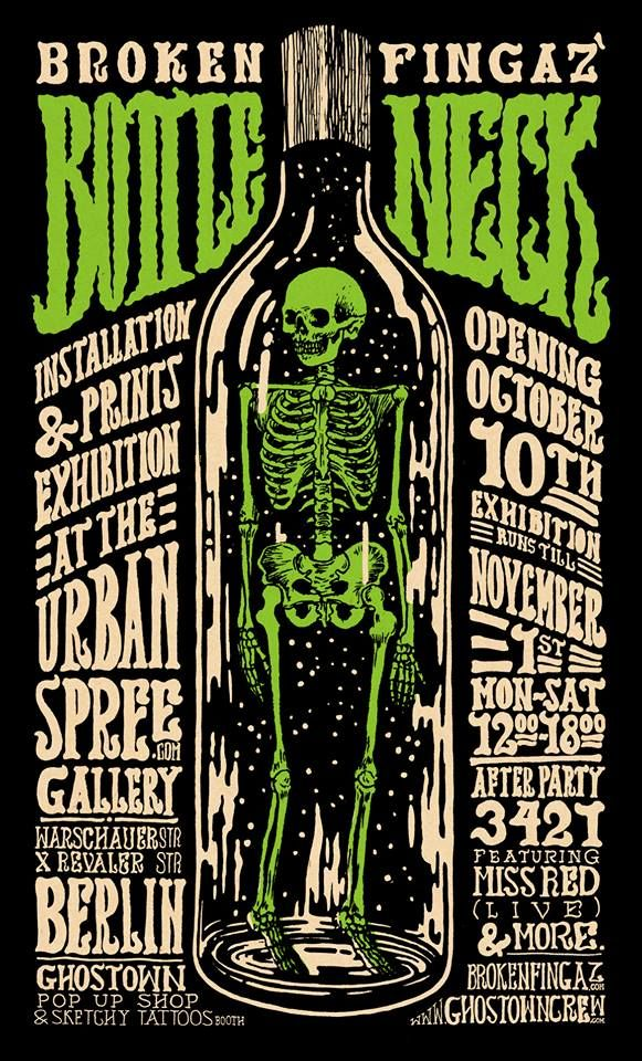 This Piece Has A Chilling Font Combine This With Sickly Colours Such As This Green And The Designer Is Able To Create An Effective Macabre T Gig Posters Design