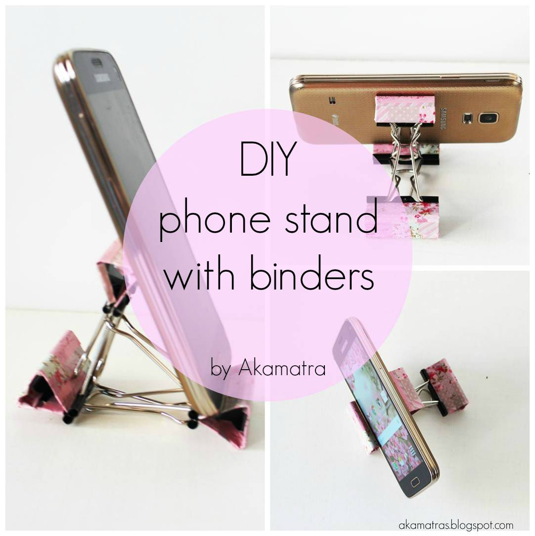 diy smart phone stand with binders full tutorial arts crafts rh pinterest com