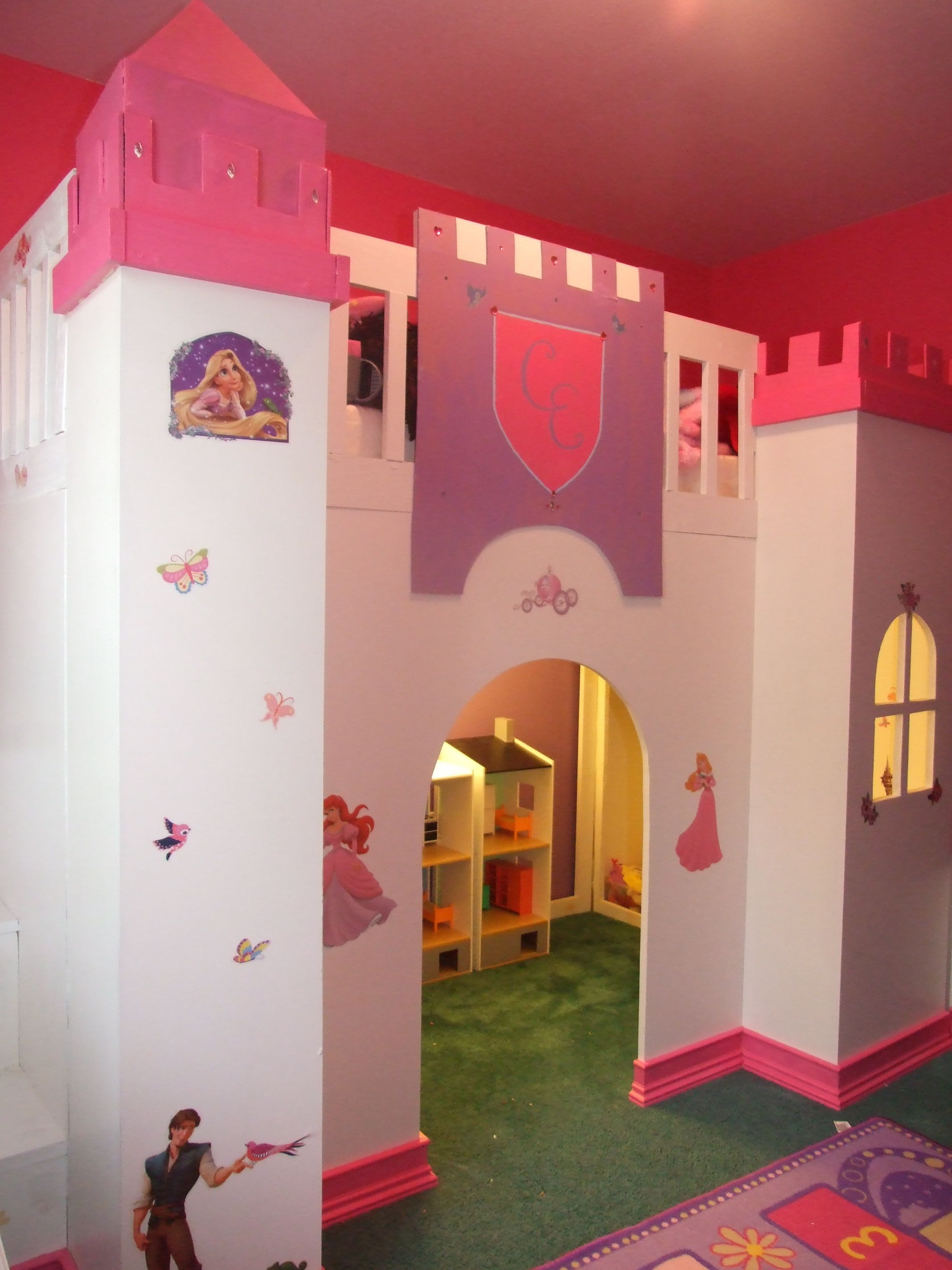 Homemade loft bed ideas  Ana White  Build a Castle loft bed  Free and Easy DIY Project and