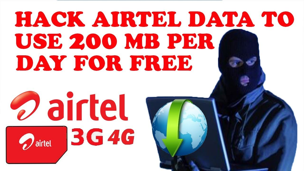 How to hack airtel data to use per day 200 MB for free