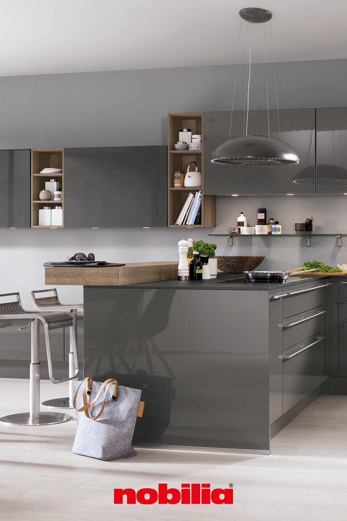 Küchen mit lackierten Fronten in 19  Moderne küche, Küchen