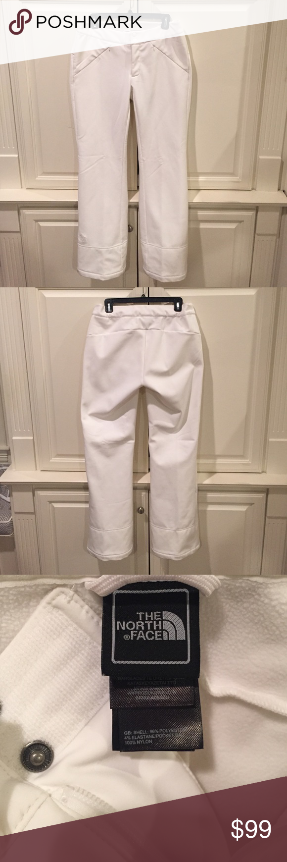 """The North Face - women's ski pants """"Apex STH"""" The North Face - women's ski pants.  Worn for only 1 day around base camp.  Excellent, like new condition.  Hidden, front zippered pockets.  Hidden, zippered pocket on lower left leg.  Adjustable, internal, Velcro waistband for custom fit.  Size Medium (M), as pictured. The North Face Pants"""