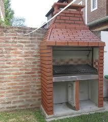 Resultado de imagen para asadores de ladrillo con chimenea