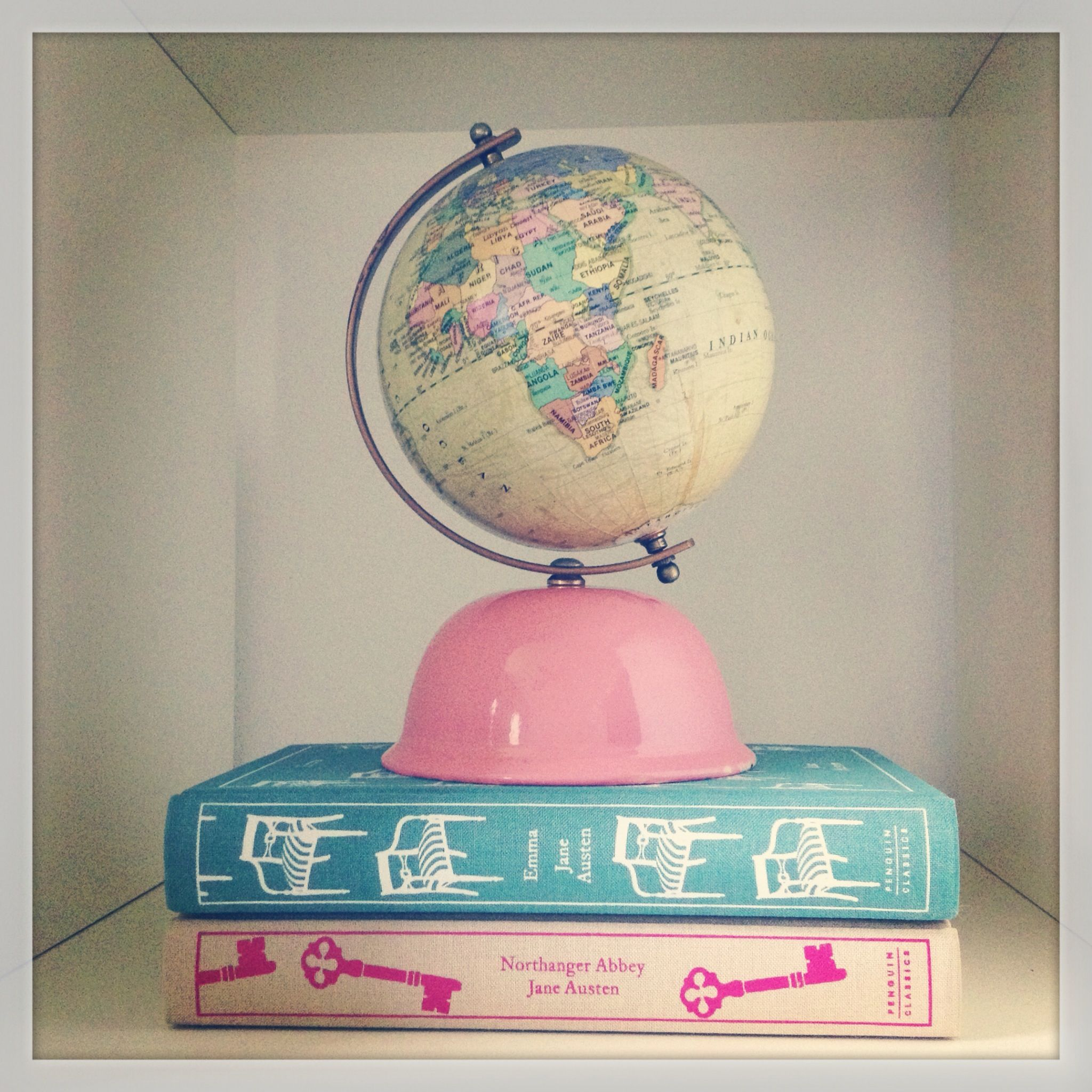 Loving The Vintage Globe Bank I Found For My Reading Room