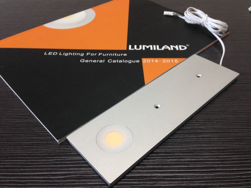 LED Ultra-thin Cabinet Light (Surface Mounted). Material: Aluminium,  Size: 60x190xH5mm