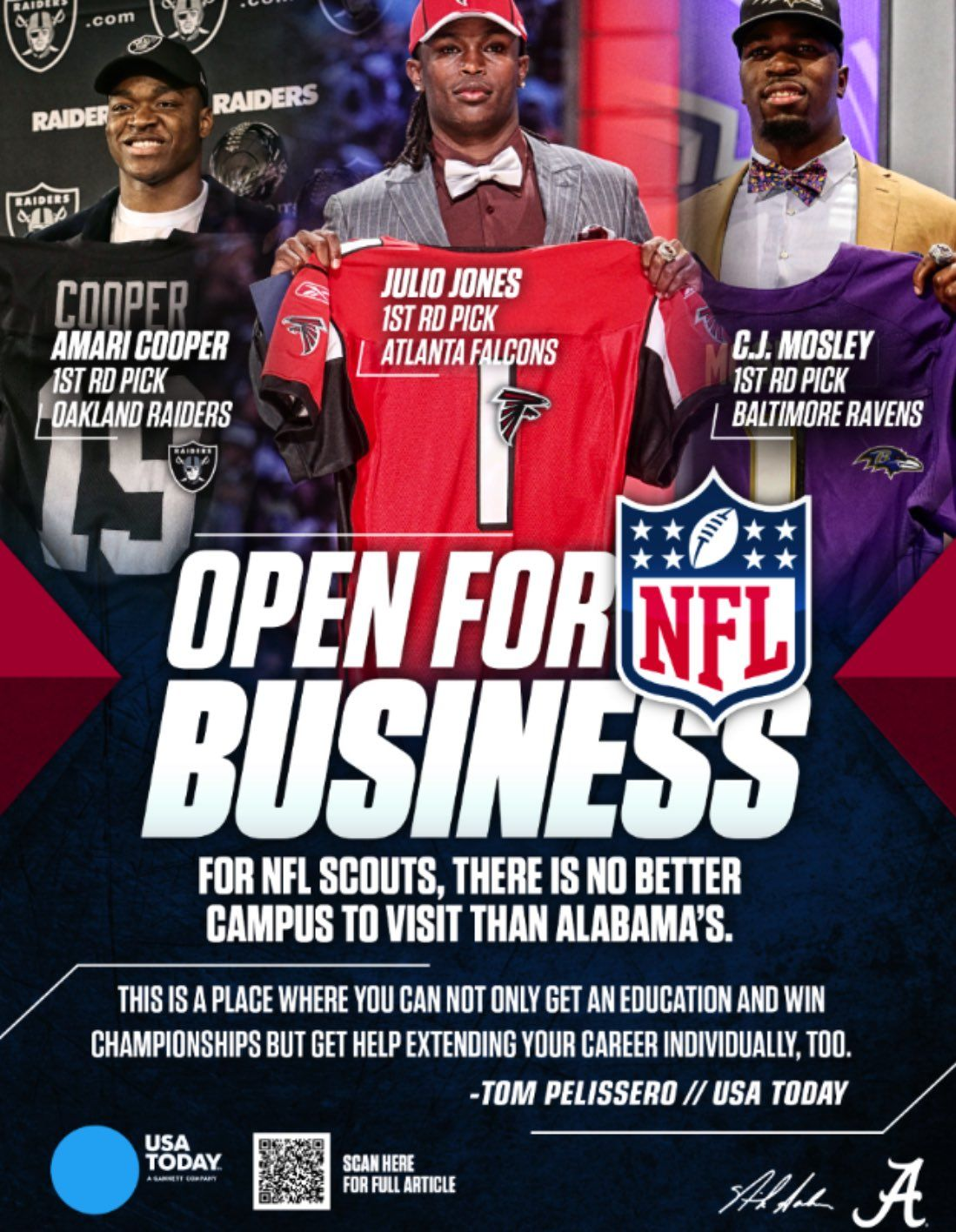 Bama is a place where you can not only get a education and win championships but get help extending your career individually too