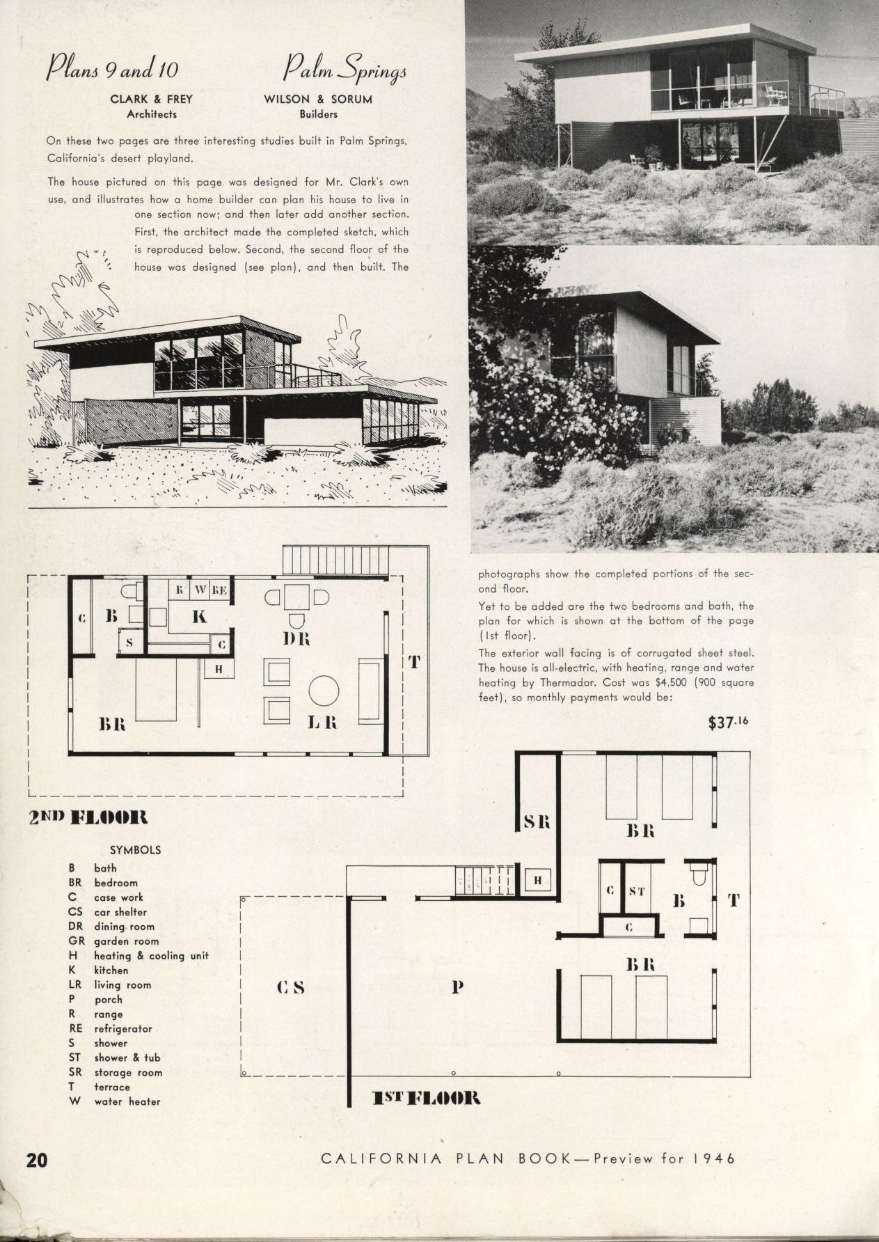 California plan book 1946 VinTagE HOUSE PlanS1940s