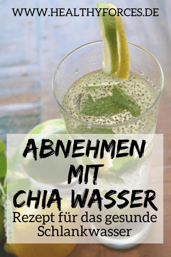 Chia Wasser zum Abnehmen: einfaches Rezept mit Zitrone