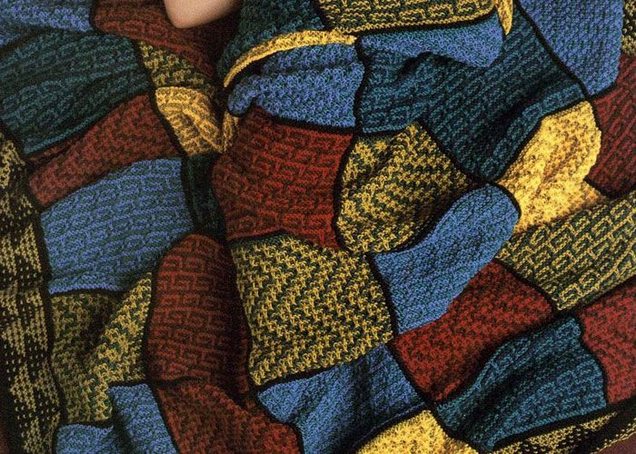 Mosaic Blanket Knitting Pattern: Mosaik-Fliesen-afghanischen von Judith L. Swartz
