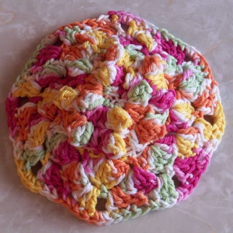 Popcorn Scrubbie Dish Cloth and Scrubbie ~ FREE Crochet Pattern ...