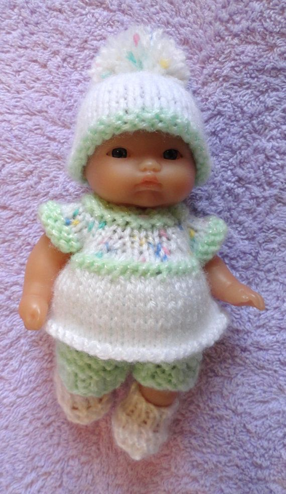 Hand Knitted Dolls Clothes For 5 Berenguer Doll 266 Pinterest