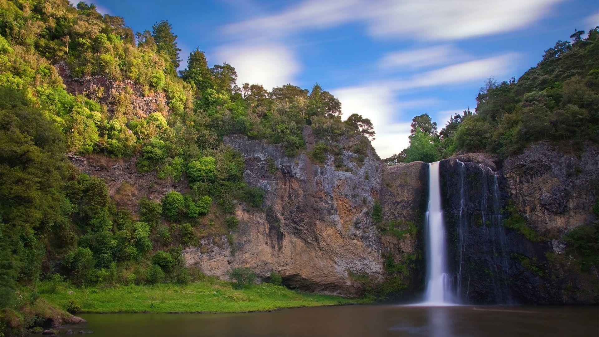 Fondo Escritorio Paisaje Bonita Nevada: Corrientes Hermosa Cascada Fondos De Pantalla
