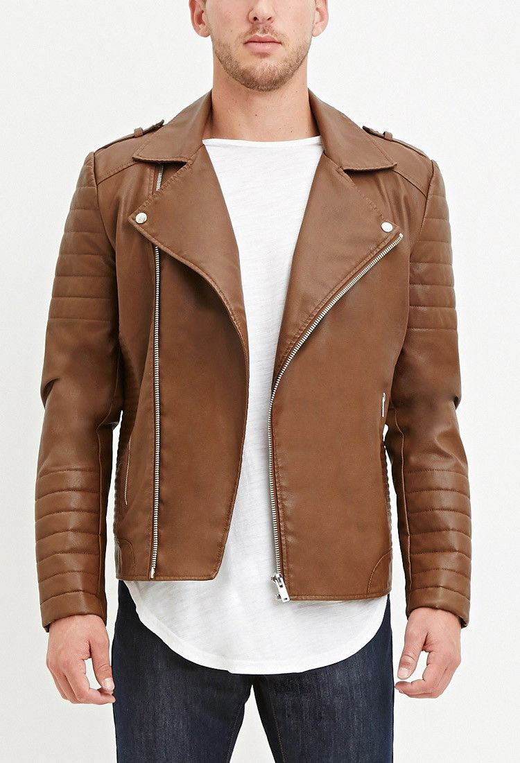 Faux quilted leather jacket F21 Best mens leather