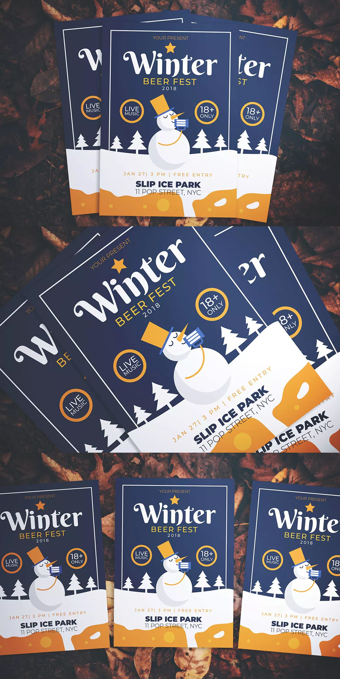 Winter Beer Fest Flyer Template AI, PSD  Download | Flyer Templates