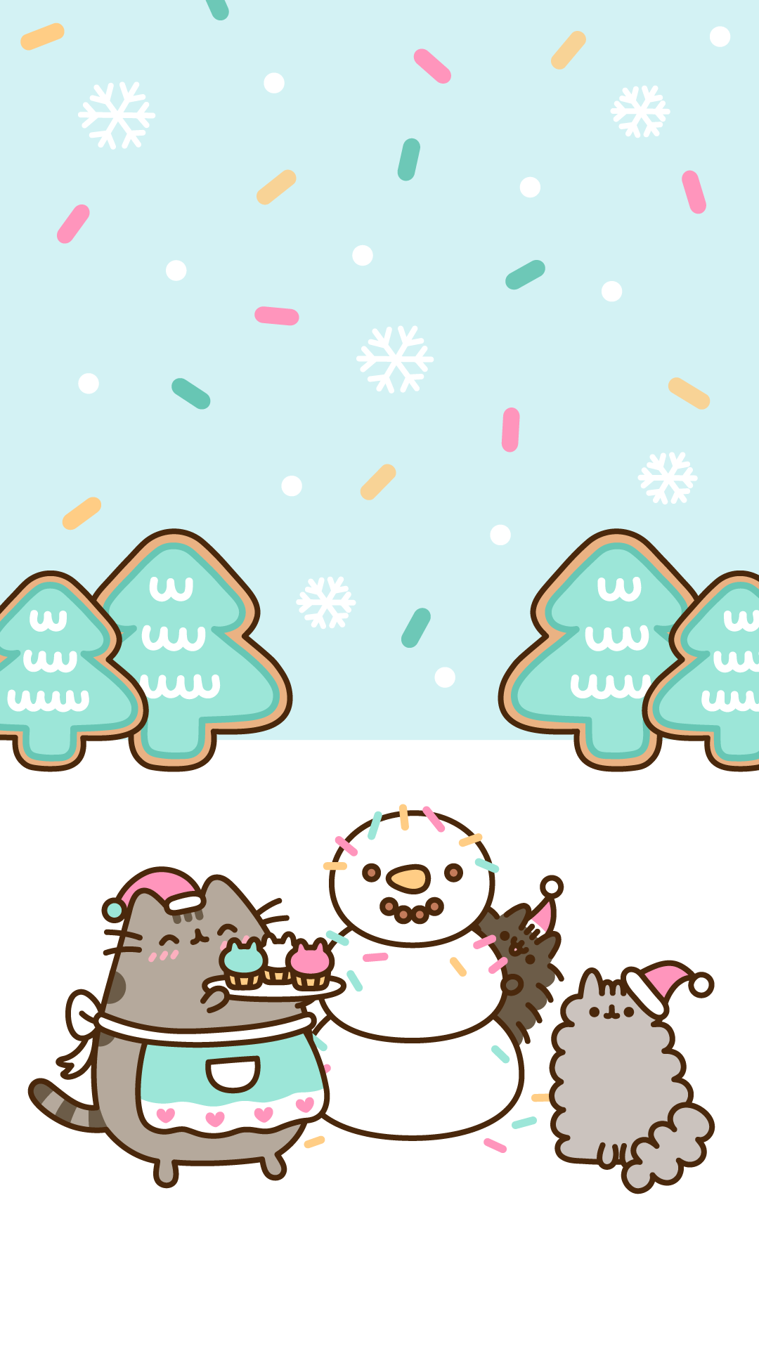 Christmas Pusheen.Free Exclusive Pusheen Android And Iphone Christmas