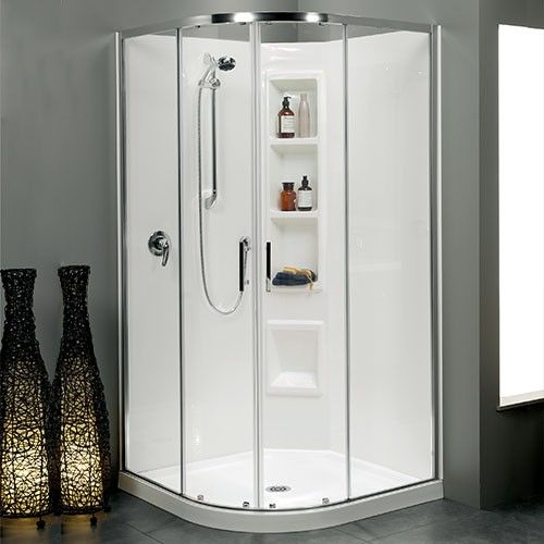 Upgrade To 900x900 Cezanne 1000x1000 Round Moulded Wall Bright Rrp 2000 Sliding Doors House Bathroom Locker Storage