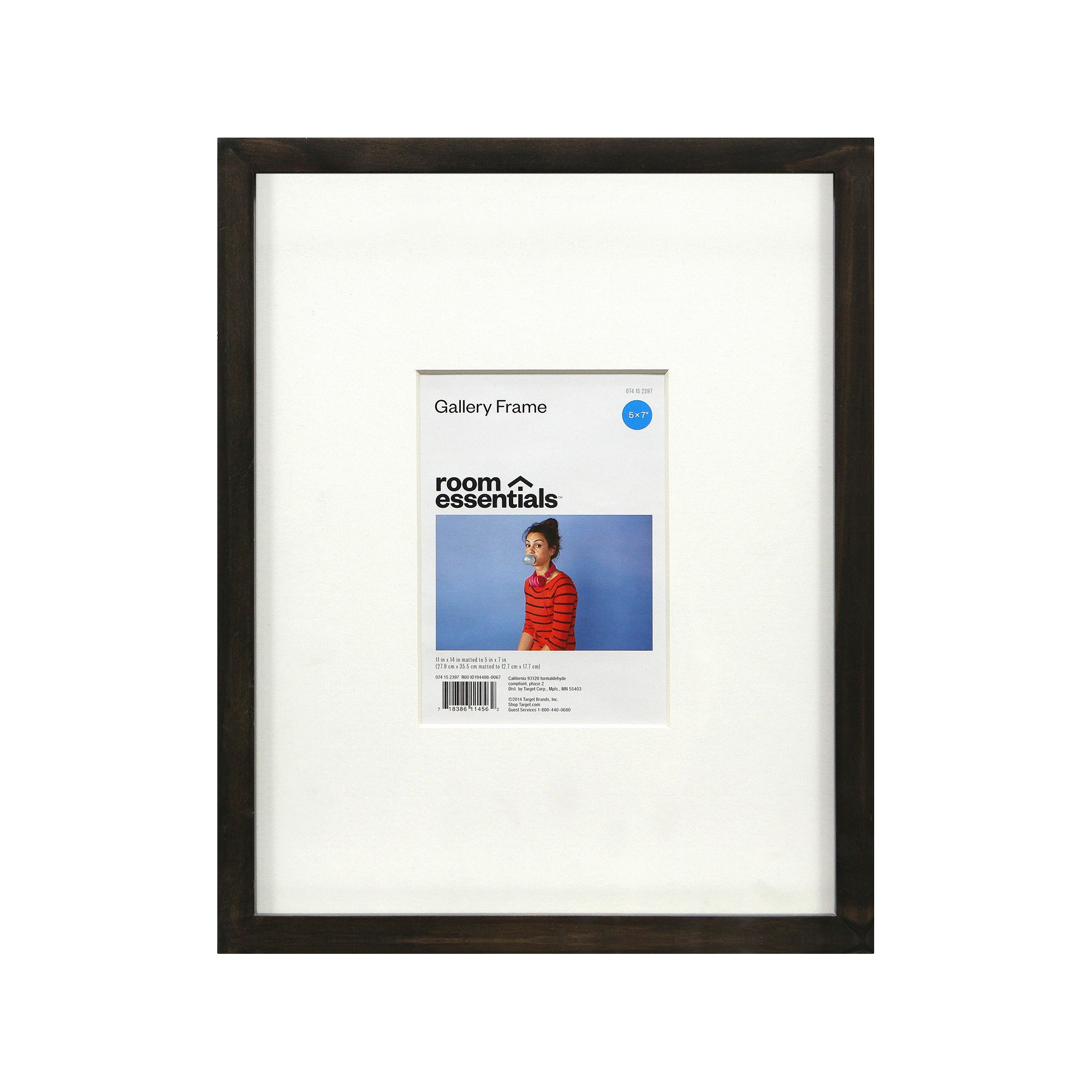 Gallery Frame Gray 11 X 14 Holds 5 X 7 Photo Room Essentials Room Essentials Photo Room Gallery Frame