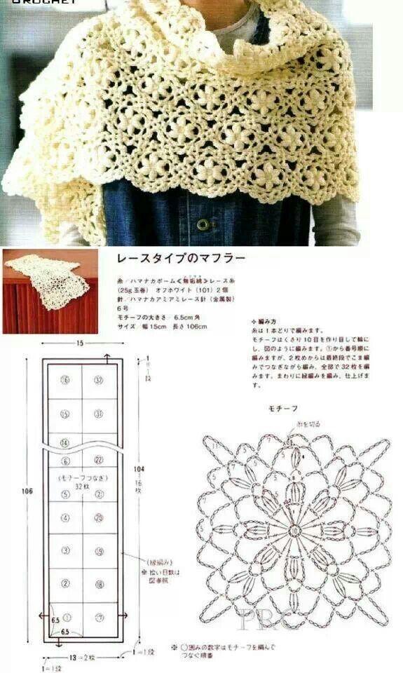 Crochet stole   Crochet - Accesorios   Pinterest   Chal, Ganchillo y ...