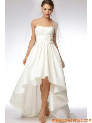 A-Line/Princess Strapless Court Taffeta Bridal Gowns USD$186.98