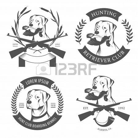 Stock Vector Dog Logo Design Hunting Dog Logo