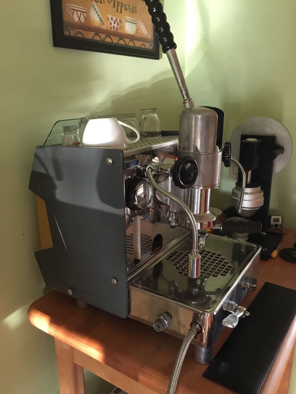 faema lambro vintage espresso lever machine ebay. Black Bedroom Furniture Sets. Home Design Ideas