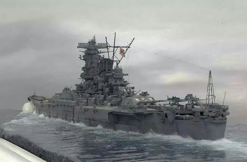IJN Battleship Yamato Tamiya 1/350 scale by Chris Floodberg  #2/2